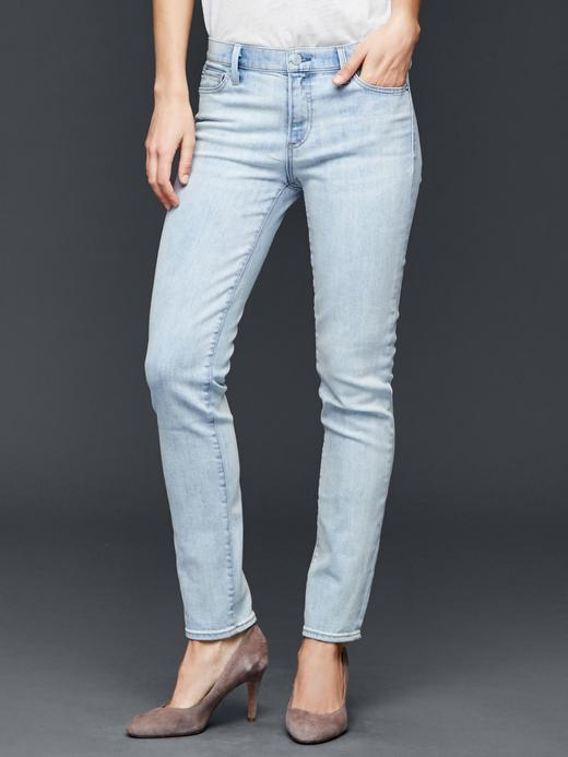 Kadın açık indigo 1969 Real straight jean pantolon