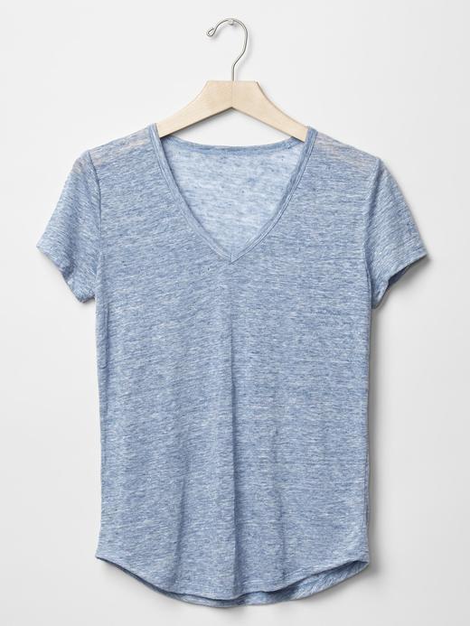 Keten V yaka t-shirt