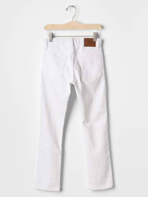 1969 white slim fit jean pantolon