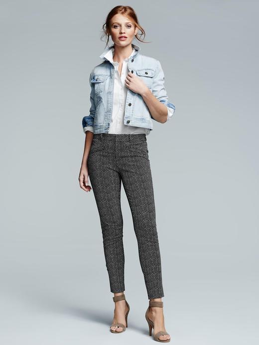 Kadın mavi Streç Bilek Hizasında Pantolon