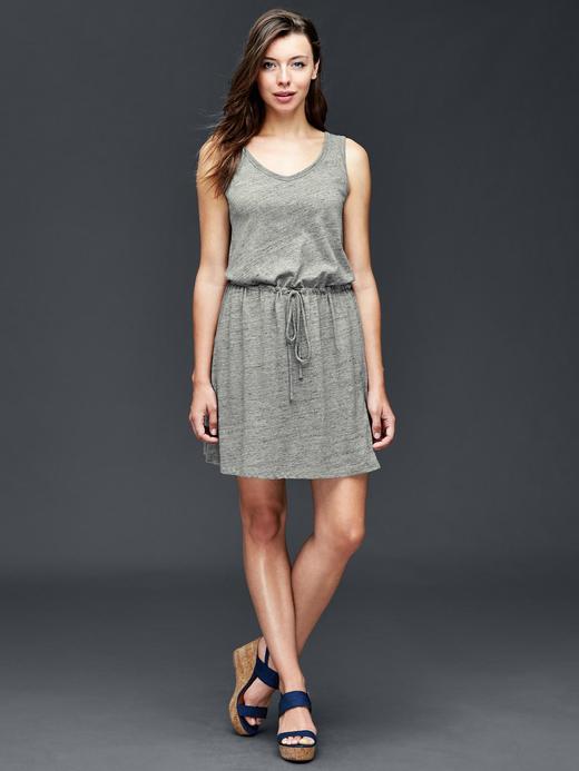Keten Pamuk Karışımlı Elbise