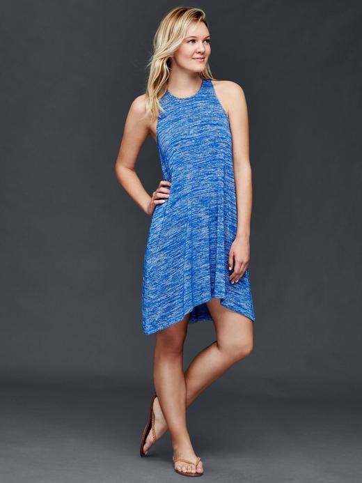 Kadın mavi Yüzücü askılı elbise