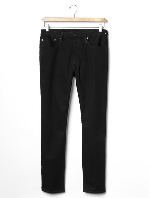 Erkek siyah 1969 Slim fit jean pantolon