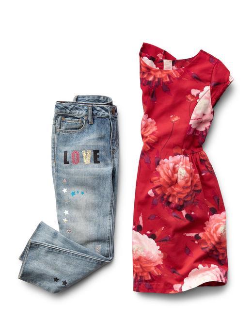 pembe çiçekli Çiçek desenli fit & flare elbise