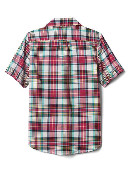 Kareli kısa kollu gömlek