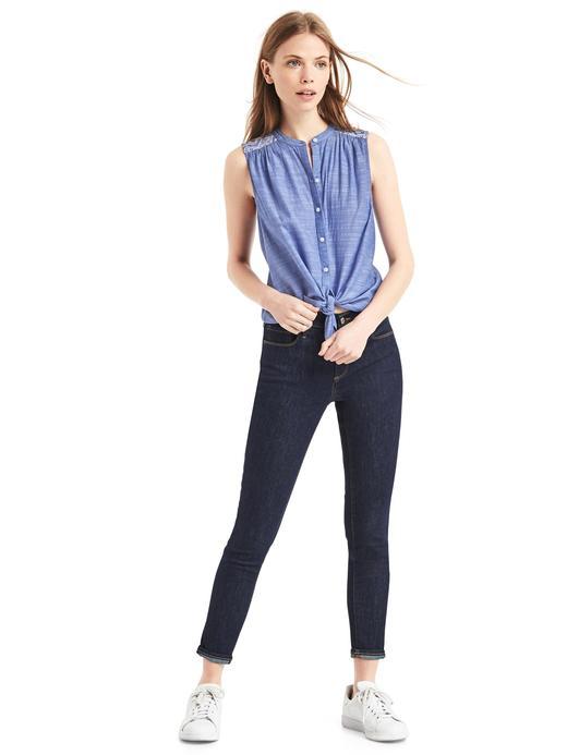 mavi Kolsuz gömlek