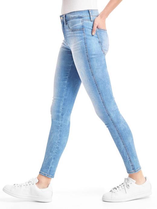 Kadın açık indigo 1969 Legging jean pantolon
