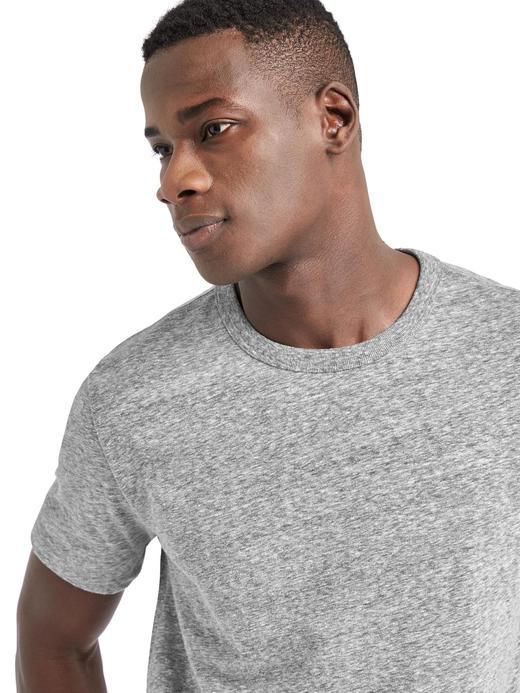 kırçıllı gri Bisiklet yaka t-shirt