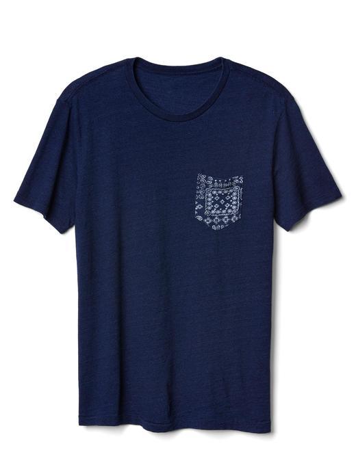 Indigo bisiklet yaka t-shirt