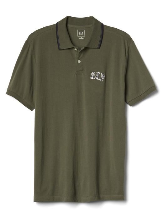 gri Gap logolu polo yaka t-shirt