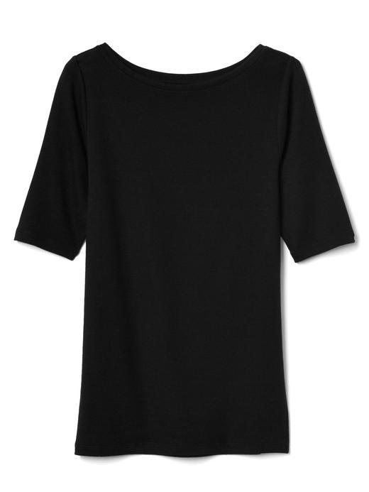 beyaz Kayık yaka t-shirt