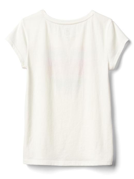 Kız Çocuk pembe Desenli kısa kollu t-shirt
