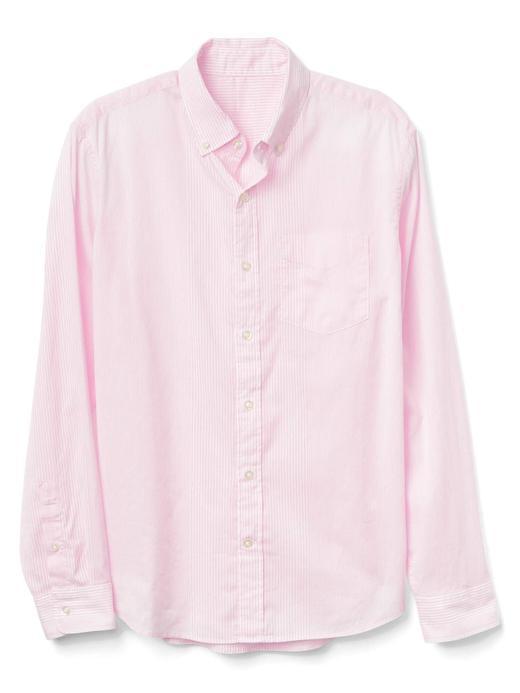 Çizgili Oxford gömlek