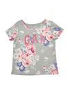 Bebek Renkli Logolu kısa kollu desenli t-shirt