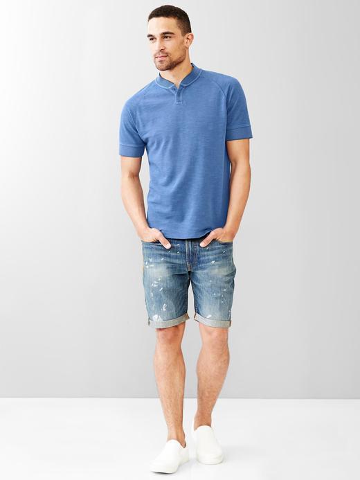 Henley kontrast t-shirt