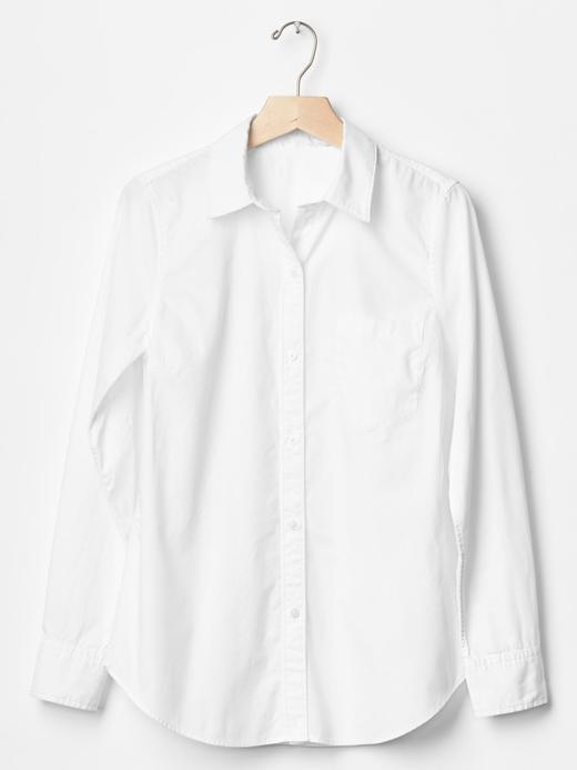Fitted boyfriend Oxford gömlek