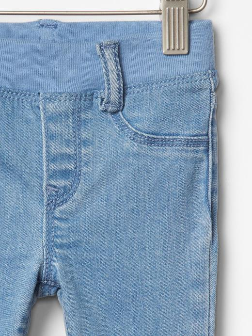 açık yıkama 1969 pull-on legging jean pantolon