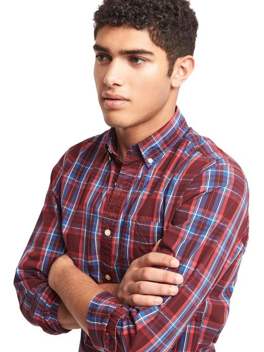 Standart fit kareli gömlek