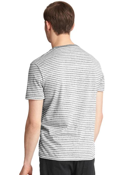 lacivert çizgili Çizgili cepli t-shirt