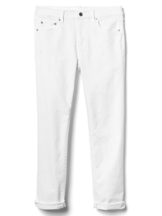 Kadın Beyaz Girlfriend jean pantolon