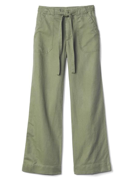 yeşil Kuşaklı bol paça pantolon