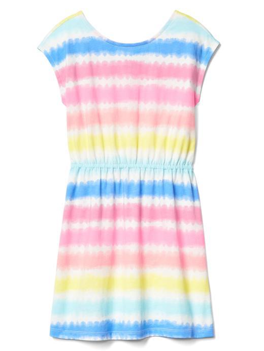 Kız Çocuk pembe Desenli elbise