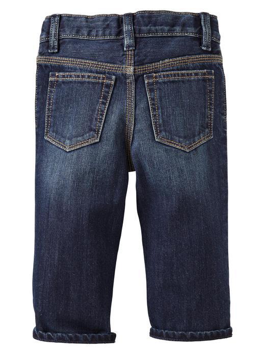 Gri astarlı original fit jean pantolon