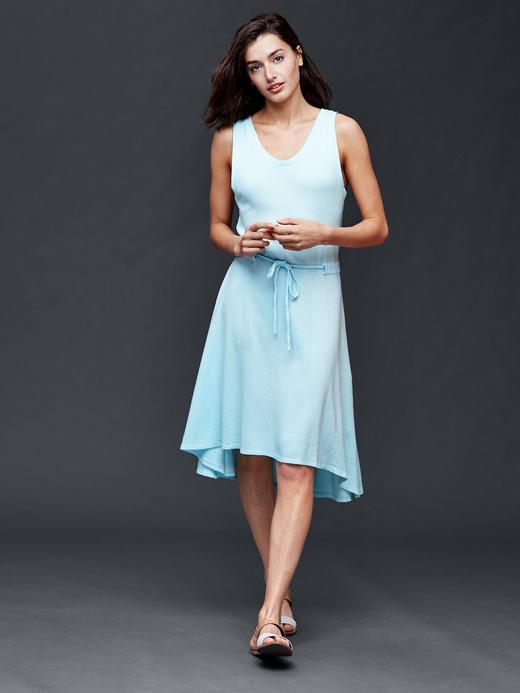 Havlu Kumaşı Kolsuz Elbise