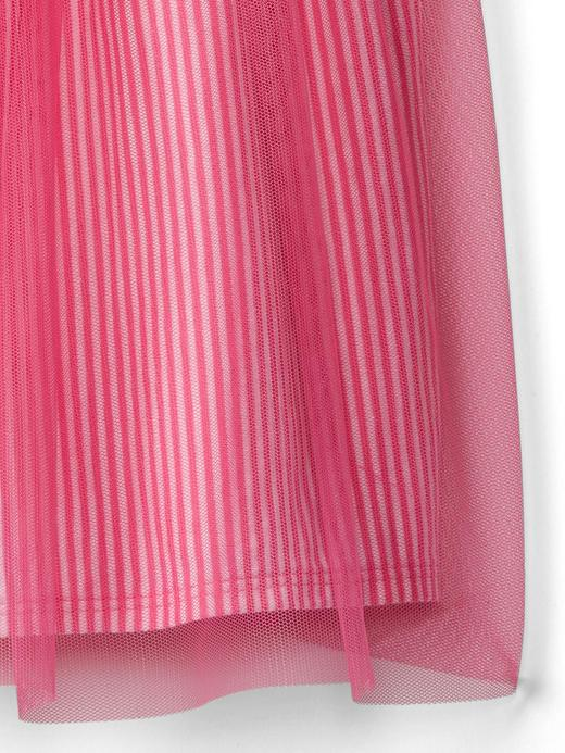 Kısa kollu tül elbise