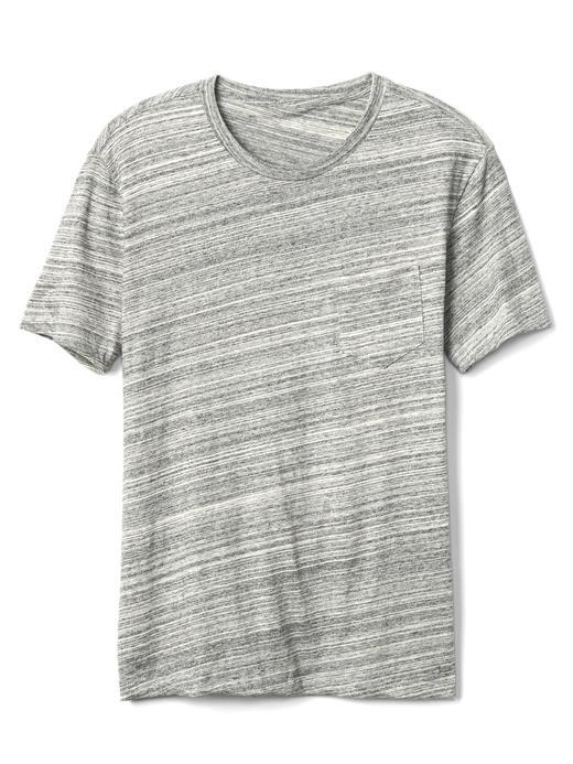 Erkek açık gri Bisiklet yaka t-shirt