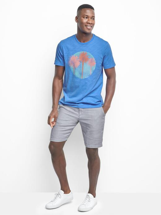 açık mavi Grafik desenli t-shirt