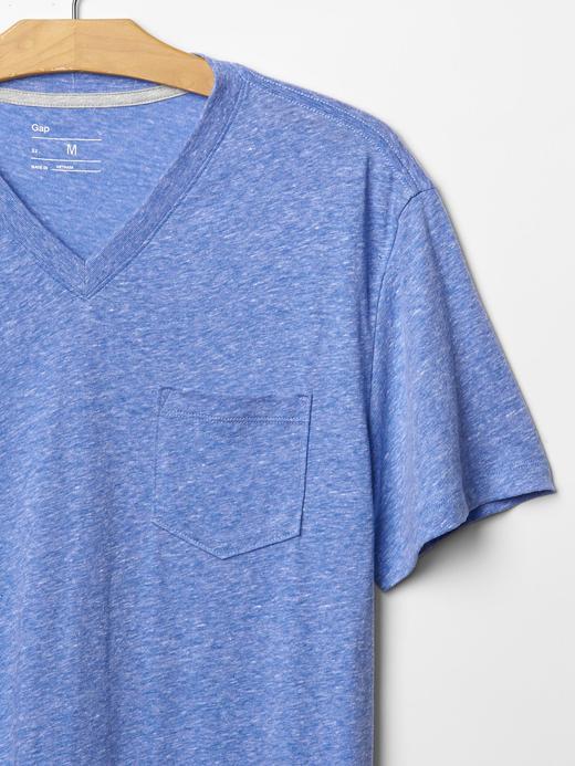 Tri-blend v yaka cepli t-shirt