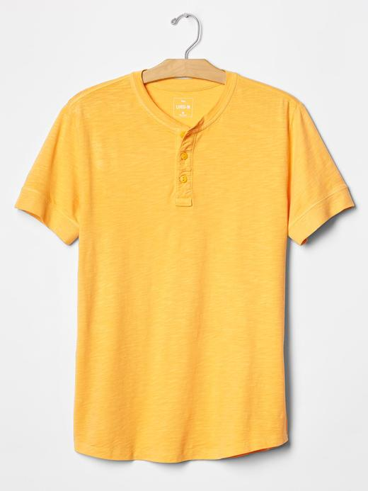 hardal Lived-in solid henley t-shirt