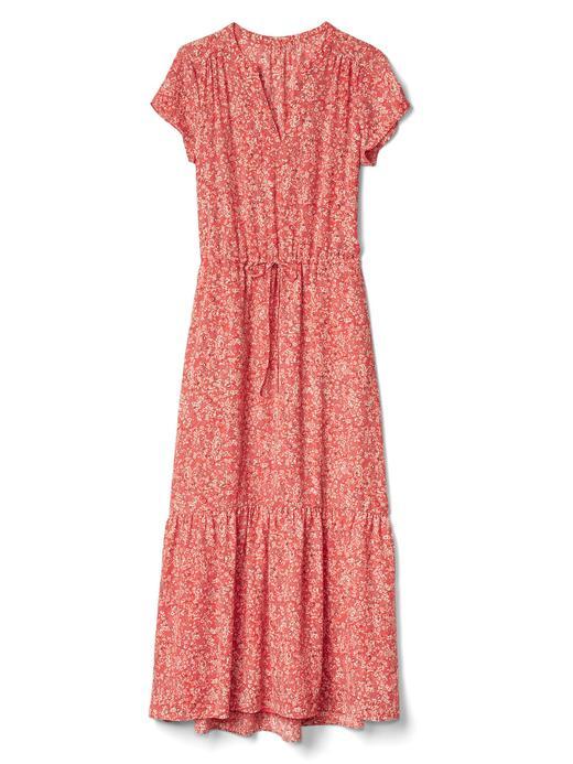 Kısa kollu uzun elbise