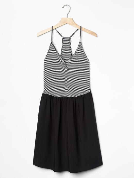 Kadın Siyah Çizgili atlet elbise