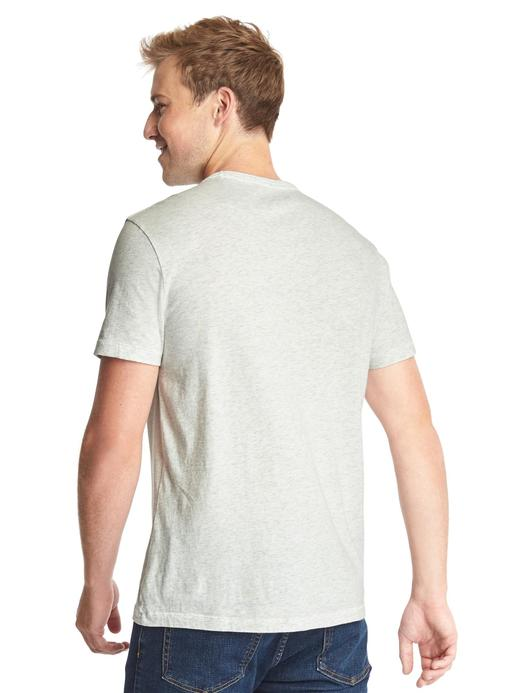 gri Cepli çizgili t-shirt