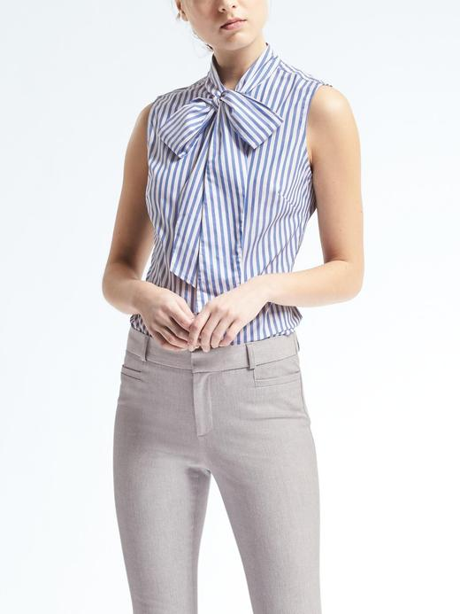 Riley-Fit çizgili gömlek