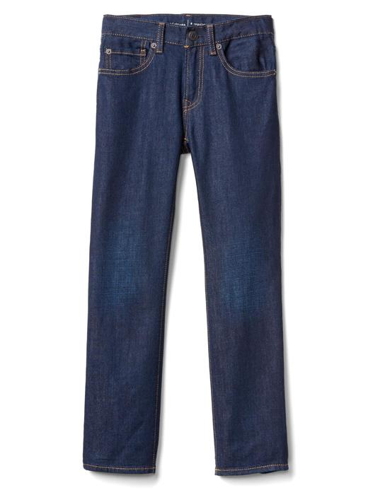 Streçli straight jean pantolon