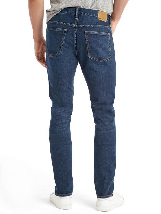 Erkek koyu lacivert Streç skinny-fit jean pantolon