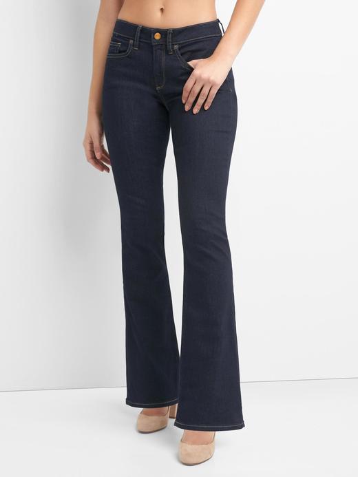 Kadın koyu lacivert Orta belli curvy perfect boot jean pantolon