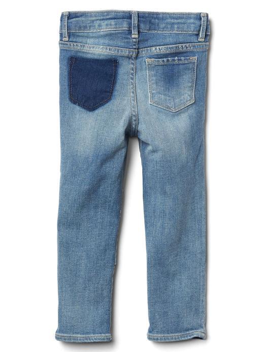 Streç rip & repair skinny jean pantolon