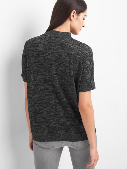 gri Softspun kısa kollu kayık yaka t-shirt