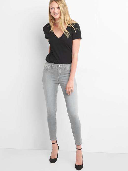 Kadın gri Legging jean pantolon