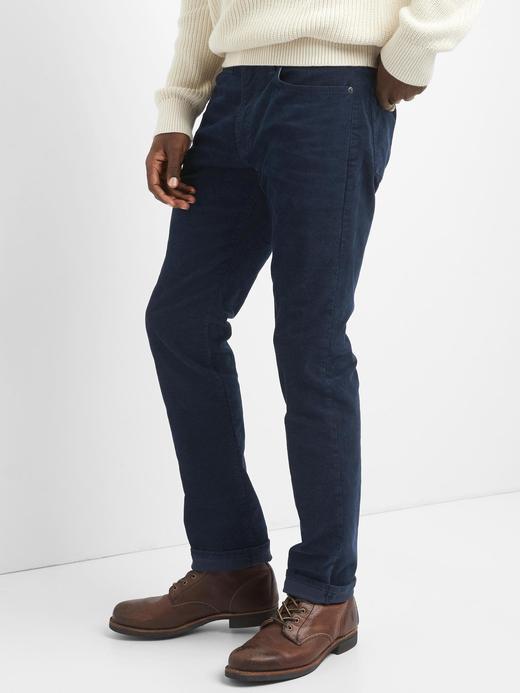 Erkek Yeşil Slim Fit Streç Pantolon