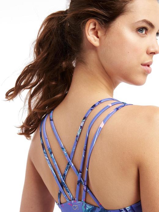 Kadın mavi Düşük Destekli Coolmax® Sporcu Sütyeni