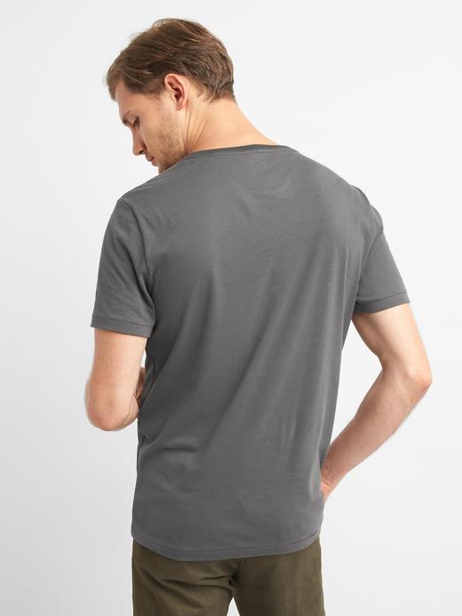 Çizgili sıfır yaka t-shirt