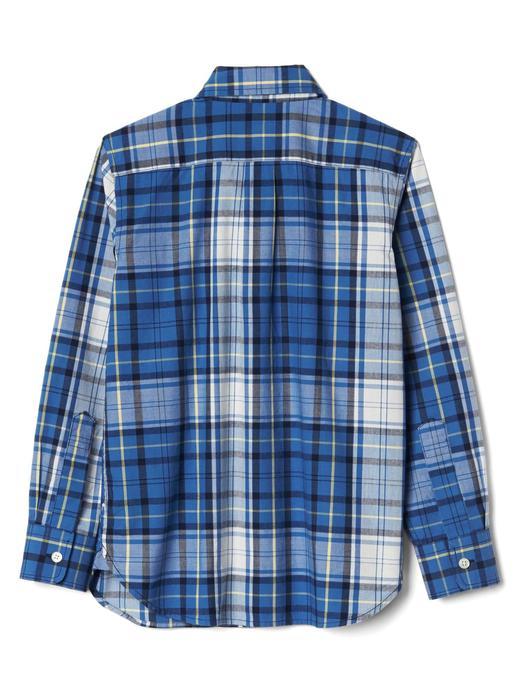 Erkek Çocuk petrol mavi Kareli gömlek