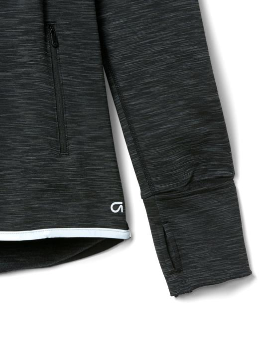 gri GapFit Orbital ışığı yansıtan polarlı sweatshirt