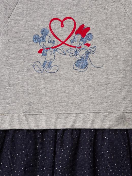 gri minnie mouse desenli babyGap | Disney uzun kollu elbise