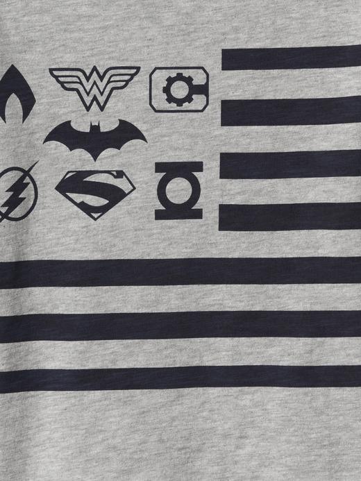 Bebek Kırmızı babyGap | DC™ Justice League uzun kollu t-shirt